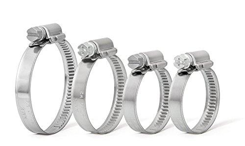 Lot de 2 colliers de serrage en métal pour tuyaux en caoutchouc et acier (50 mm – 70 mm)