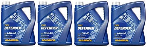 Mannol Defender 10W-40 Diesel & Benziner Motoröl 20Liter Kanister