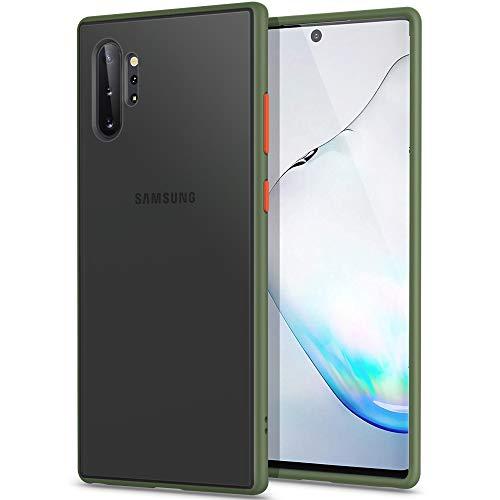 """YATWIN Serie Antiurto, Compatibile per Cover Samsung Galaxy Note 10 Plus, Custodia per Samsung Note 10 Plus Antiurto Policarbonato e TPU, Anti-Graffio, Compatibile con Samsung Note 10+ 6.8"""", Green"""