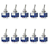 Gikfun 6 Pin DPDT ON-ON Mini Toggle Switch 6A 125VAC for Arduino (Pack of 10pcs) EK2022