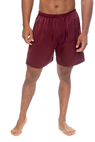 TexereSilk Men's Boxer - Medium - Burgundy