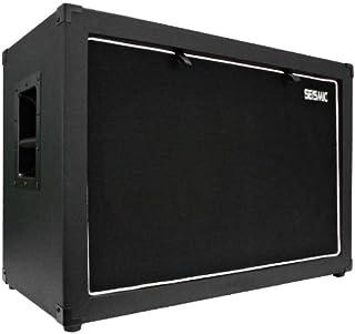 "Seismic Audio - 12"" GUITAR SPEAKER CABINET EMPTY - 7 Ply Birch - 2x12 Speakerless Cab NEW 212 Black Tolex - Black Cloth Gr..."