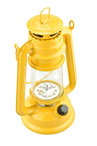 SE 15-LED Yellow Hurricane Lantern with Dimmer Switch - FL805-15Y