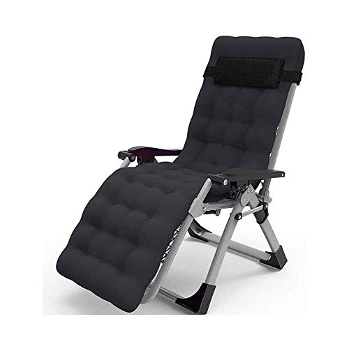 FTFTO Home Accessories Chairs Sun Lounger Leisure with Pillows Reclining Garden Zero Gravity Lounger Reclining Patio Rust Resistant with Thick Cotton Pad Portable Folding Recliner