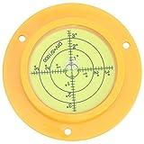 Círculo Circular con orificios de montaje Durable 90 mm Portátil Disco robusto Precisión Burbuja Nivel de burbuja Redondo para calibración horizontal de básculas