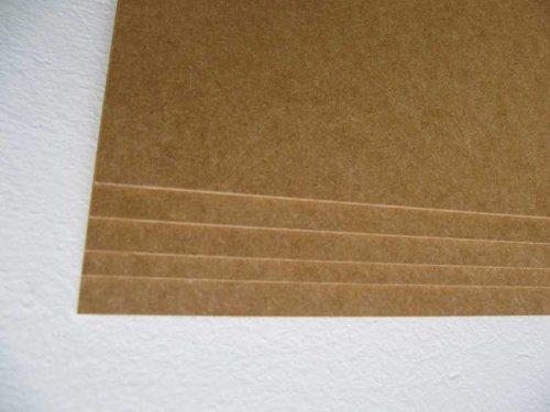 2 Stck. MDF-Platte 2,5 mm stark Roh ohne Beschichtung Holzwerkstoff Zuschnitt 100x80 cm 80x100 cm