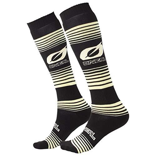 O'Neal Pro MX Stripes Knie Socken Strümpfe Motocross Enduro Offroad Downhill DH Komfort, 0356-74, Farbe Schwarz Gelb - 2