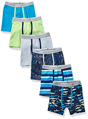 Hanes Boys' Toddler Boxer Brief, Assorted Prints & Solids, 4T
