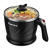 Topwit Electric Hot Pot Mini, Electric Cooker, Noodles Cooker, Electric Kettle with Multi-Function for Steam,...