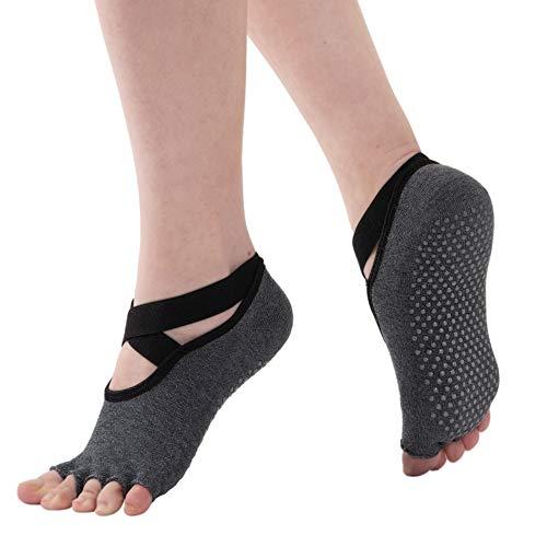 yoga socks WEANMIX Non Slip Yoga Socks for Women Pilates Grip Socks Toeless Sticky Socks