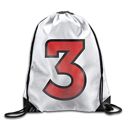 Mochila con cordón, Mochila Deportiva, Mochila de Viaje,Number 3 Funny Gym Drawstring Bags Travel Backpack Tote School Rucksack