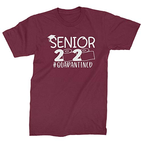 Expression Tees Mens Seniors 2020 Quarantined Toilet Paper T-Shirt Large Maroon