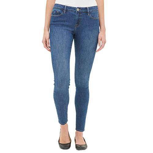 Tommy Hilfiger Womens Mid Rise Skinny Jeans (Bright Blue Wash, 10)