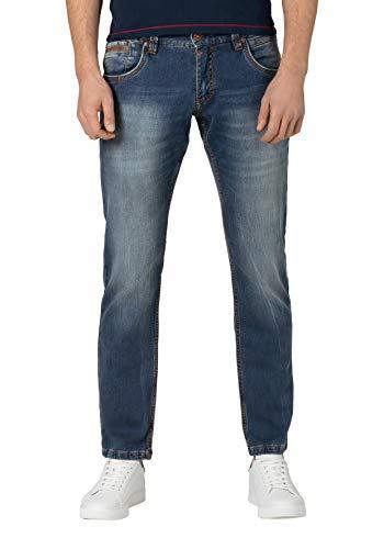 Timezone Slim Edwardtz Jeans, Blu (White Used Wash 3300), W34/L34 (Taglia Produttore: 34/34) Uomo