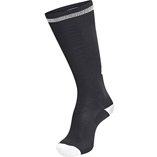 hummel Elite Indoor Sock HIGH, Schwarz/Weiß, 35/38