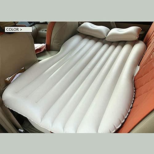 angelHJQ Cama de viaje de coche, almohadilla de dormir, cama de viaje de coche, camping, sofá inflable para automóvil, colchón de aire trasero, cojín de descanso