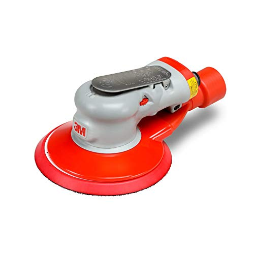 "3M Elite Central-Vacuum-Ready Random Orbital Sander - Pneumatic Palm Sander - For Wood, Composites, Metal - 6 "" x 3/16 "" Orbit - 28508"