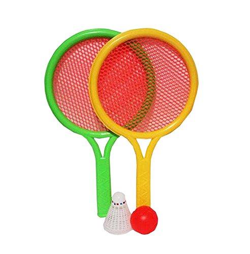 Black Temptation Un Ensemble de Deux Couleurs de Raquette de Badminton pour Enfants