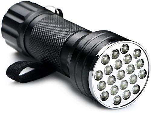 Ertisa 2 Stk UV Lampe, Schwarzlicht und Weißes Licht Taschenlampe, 395nm Ultraviolett, Detektor für unechte Banknoten, Urin von Hunde, Katzen und andere Haustiere