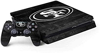 Skinit Decal Gaming Skin for PS4 Slim Bundle - Officially Licensed NFL San Franciso 49ers Black & White Design
