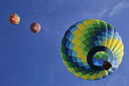 JFZJFZ Globo de aire caliente Flotador Diversión Colorido Viaje aéreo DIY Dibujo digital por números Arte de pared moderno Dibujo al óleo por números para decoración del hogar