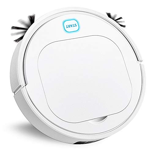 Powbacksy Robot Vacuum Cleaner, 3 in 1 Automatic Sweeping Vacuuming & Mopping Robotic Vacuum Cleaner, 1200Pa Strong Suction, Anti-Collision Sensor, Super Quiet Floor Sweeper for Pet Hair,Tile Dining Features Kitchen Robotic Vacuums