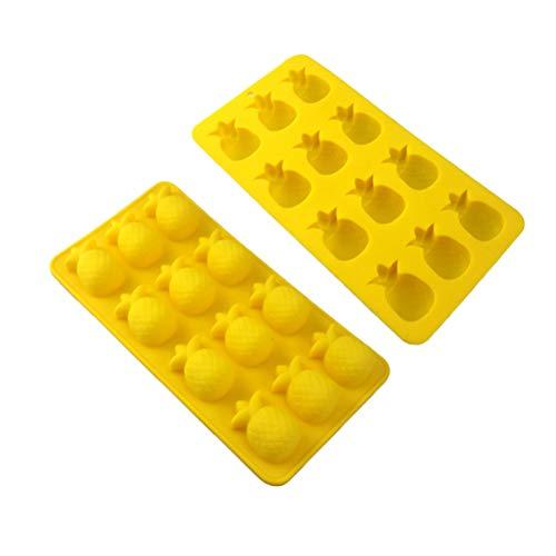 Amosfun 2 stücke Silikon Ananas Kuchenform Seife Backform Fondant Mousse Pudding Gelee Schokoladenform Tablett