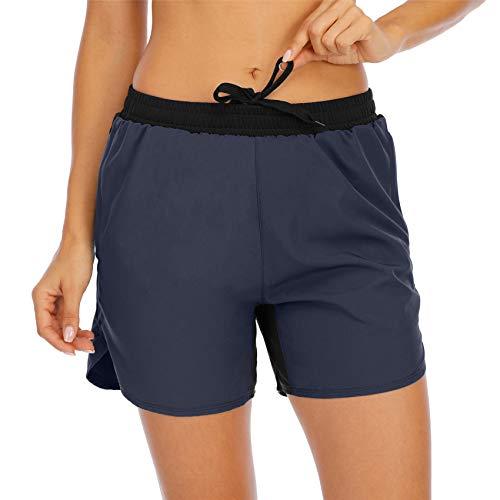 Hhckhxww Pantalones Cortos Deportivos para Correr con MúSculos para Mujer