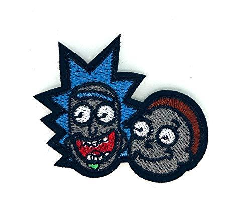 Gemelolandia | Parche Bordado Termoadhesivo Rick & Morty 7x5,5cm | Muy Adherentes | Patch Stickers Para Decorar Tu Ropa | Fáciles de Poner