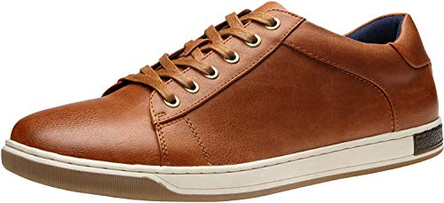 Vostey Men's Sneakers Fashion Brown Casual Shoes Dress Sneaker Oxford Shoes(B81Q13 Yellow Brown 10)