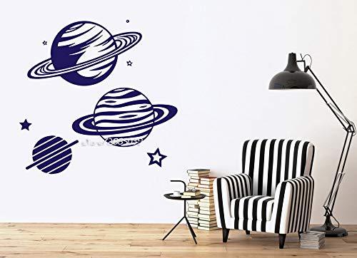 Ajcwhml Planetarium Bild Planet Vinyl Aufkleber Wand Stern Ring Saturn wanddekoration Aufkleber hochwertige tapete wert wandbild