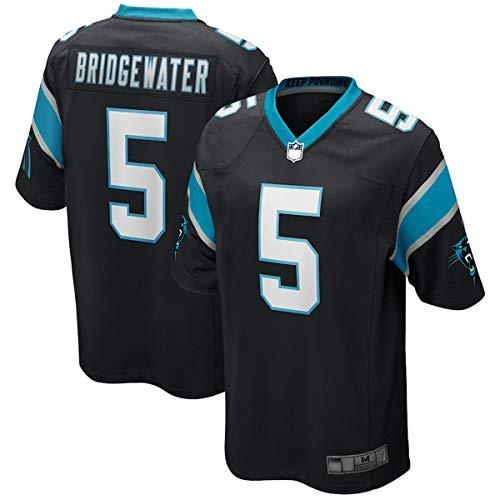 OUOUO Herren Rugby-Trikot Teddy Panthers Nr. 5 Carolina Bridgewater 2020 Game Jersey atmungsaktiv Sportshirts für Herren - Schwarz