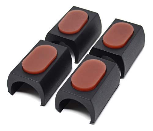 Design61 TPE-U 4er Set für Freischwinger Stuhlgleiter Bodenschongleiter für Rundrohr Ø 24-25 mm Möbelgleiter Klemmschalengleiter Klemmgleiter