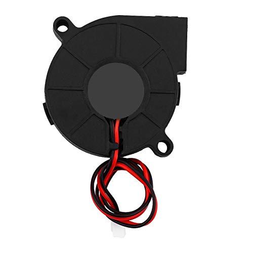 Aukson Lüfter für Drucker, DC 12 / 24V 50 * 15mm Blow Radial Lüfter Kit Zubehör für 3D-Drucker(24V)