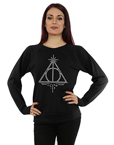 Harry Potter Femme Deathly Hallows Symbol Sweat-Shirt X-Large Noir