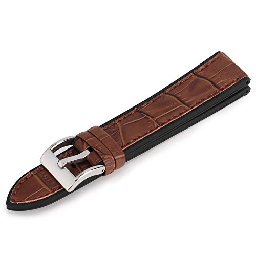Correa de Reloj, Correa de Reloj de reemplazo de Pulsera Elegante de Moda, cómodo de Llevar Grano de bambú para relojero Hombres(Coffee Surface 22mm)