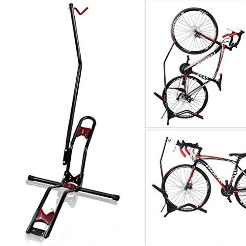 Bicicleta Vertical Caballete, Multi-Ajustable De La Función Perchero De Pie Bicicletas Garaje De Reparación Cubierta De Montaña Bicicleta De Carretera Herramienta De Carga Del Cojinete 66 Libras