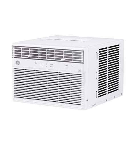GE Energy Star 10,000 BTU Smart Electronic Window Air Conditioner for Medium Rooms up to 450 sq ft, White