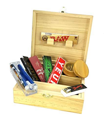 XL-Aufbewahrungsbox für Raucher + Zubehör (konische Drehmaschine, dünne Blätter und Filter Tips).