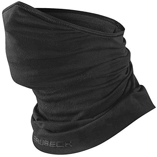 BRUBECK Halbe Sturmhaube VB-Pro HeiQ Viroblock | Herren | Damen | Klimaregulierend | Balaclava | Funktionskleidung | Atmungsaktiv Gr. S-M, KM10890 Schwarz