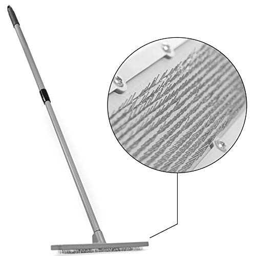 Quality Line Universal Carpet Rake | Effective & Safe Pet Hair Removal | User-Friendly Rug & Carpet Cleaner | Ergonomic & Unique Design | Features a 4 Ft Extendable Pole