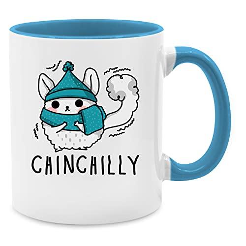 Statement Tasse mit Spruch - Chinchilly - Unisize - Hellblau - Comic - Q9061 - Kaffeetasse und Teetasse