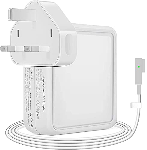 Compatible With Macbook Pro Charger 85W Generation L-tip Power Adapter For Mac Pro Retina 13' 15' 17'-Inch, Mid 2007,2008,2009,2011,2012 Mac Retina Display Works With 45W&60W&85W
