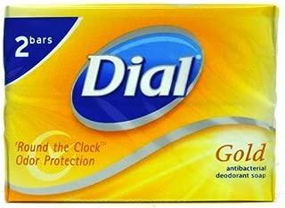 Dial Gold Antibacterial Deodorant Soap, 2 pack, Total Net Wt 6.4 oz