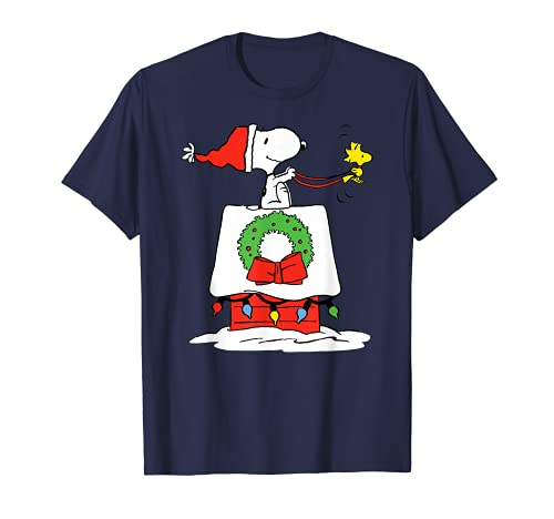Peanuts Holiday Snoopy's Doghouse Sleigh T-Shirt, Adults and Kids