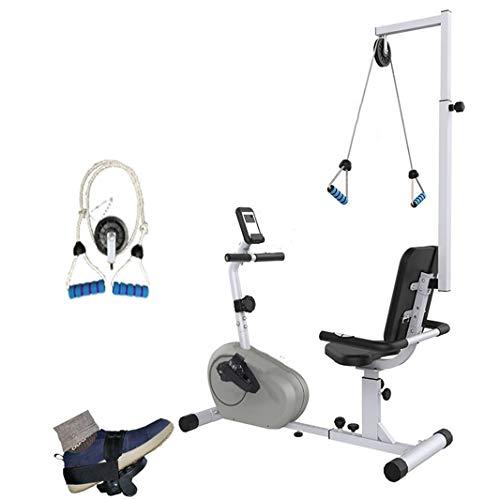 Bicicleta estática reclinada con resistencia ajustable, ejercitador de pedal motorizado para piernas y brazos, equipo de rehabilitación para accidentes cerebrovasculares Fisioterapia para extremidad