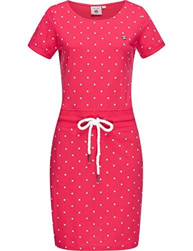 Peak Time Damen Jersey Sommerkleid Strandkleid L80023 Rasberry Gr. M