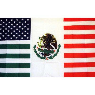 NEOPlex 3x5 Feet USA Mexico Friendship Traditional Flag