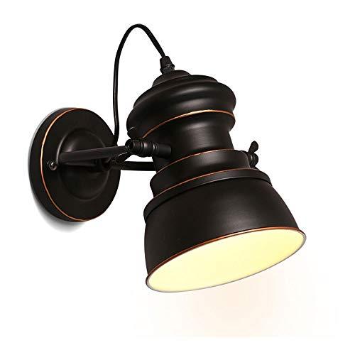 Retro simple Encienda la lámpara de pared, cama, sala de estar, dormitorio, restaurante, pasillo, lugar de ocio, forjado lámpara de pared del hierro LED