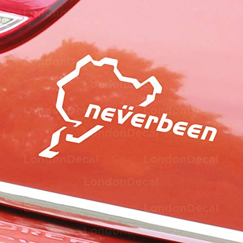TAMENGI NEVERBEEN Nurburgring Car Window Bumper Vinyl Decal Sticker, Any Colour - 7 inches